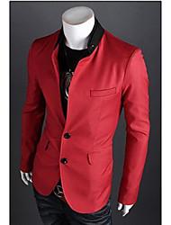 Men's Long Sleeve Regular Blazer,Cotton Solid