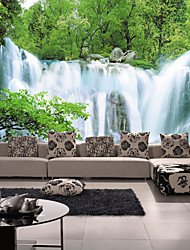 JAMMORY Art Deco Wallpaper Contemporary Wall Covering,Non-woven Paper 3D Landscapes Waterfall Large Mural Wallpaper