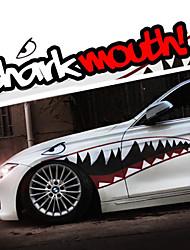 """b taille 60 """"* 18"""" cool dents de requin bouche ho décalcomanies corps auto voiture autocollant réfléchissant (1 paire)"""
