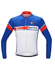 SANTIC Bike/Cycling Jersey / Tops Men's Long Sleeve Breathable / Ultraviolet Resistant / Quick Dry / Sunscreen / Limits Bacteria Polyester