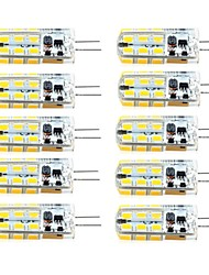 3W G4 LED à Double Broches T 81 SMD 2835 260 lm Blanc Chaud / Blanc Froid Gradable AC 100-240 / DC 12 / AC 12 V 10 pièces