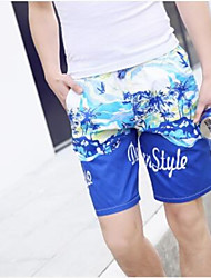 Men's Print Casual Shorts,Cotton Multi-color