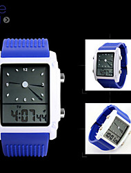 SKMEI® Men's  Digital-Analog Silicone Band 30m Water-resisstant Multi-Functional Dual Time Zones Sports Watch Cool Watch Unique Watch