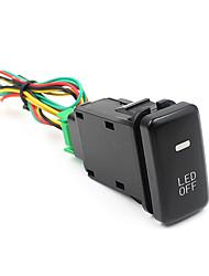 largeur de foglight lumière modifiée lampe lumière interrupteur marche / arrêt bouton stop pour les voitures toyota cs-268