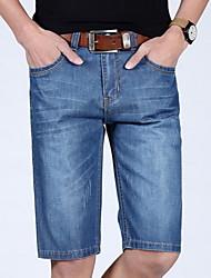 Men's Solid Pant,Cotton Casual / Plus Sizes Shorts Jeans