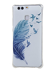 For Huawei Case / P9 Shockproof Case Back Cover Case Feathers Soft TPU Huawei Huawei P9