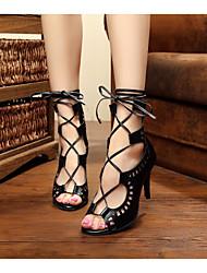 Zapatos de baile(Negro) -Latino / Salsa / Samba-Personalizables-Tacón Stiletto