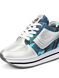 Scarpe Donna-Sneakers alla moda-Tempo libero / Formale / Casual-Comoda-Piatto-Finta pelle-Blu / Rosa / Grigio