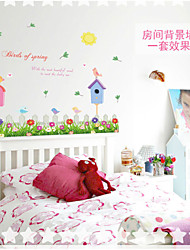 SK7008 Birds of Spring Wall Decals Quote Decorations Living Room Sticker Bedroom Wallstickers Kids Room Decoration