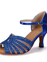 Women's Dance Shoes Latin Leatherette Flared Heel Customizable