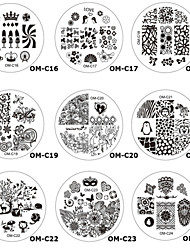 1PCS New Nail Printing Plate Nail Tools16#-30#