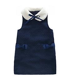 Girl's Blue Dress Polyester Spring / Fall