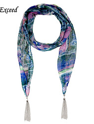 D Exceed Luxury Plaid Scarfs Elegant Multicolor Chiffon Winter Scarf Necklaces For Women's Shawls And Scarves