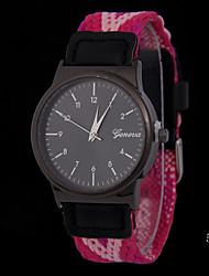 Mulheres Relógio de Moda Quartzo Tecido Banda Cores Múltiplas # 2 # 3 # 4 # 5 # 6