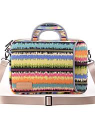 padrões de notas bolsa de ombro laptop saco de mão lona impermeável para o ar macbook 13,3 macbook pro13.3 / 15.4