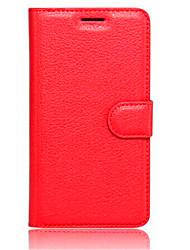 Pour Coque Mi Portefeuille / Porte Carte / Avec Support / Clapet Coque Coque Intégrale Coque Couleur Pleine Dur Cuir PU Xiaomi