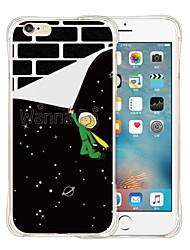 wallpaper arte silicone caso de volta transparente macia para o iPhone 6 / 6s (cores sortidas)