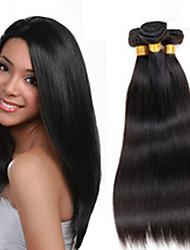 3Bundles 8-26inch brasileiro do cabelo virgem cor do cabelo reto 1b # do cabelo humano virgem crua não processada tece