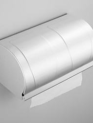 Toilet Paper Holder Anodizing Wall Mounted 23*23*18cm Aluminum Contemporary