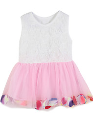 Robe Fille de Coton Eté / Printemps Rose