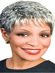 Fashion Short Curly Woman's Synthetic Wigs Hair  Gray Wig