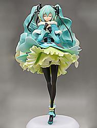 Vocaloid Hatsune Miku 22CM Las figuras de acción del anime Juegos de construcción muñeca de juguete