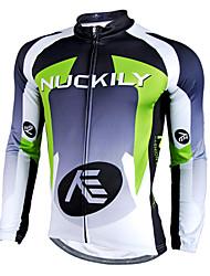 NUCKILY® Cycling Jersey Men's Long Sleeve Bike Waterproof / Rain-Proof / Reflective Strips Jersey / TopsVelvet / Polyester / Down /