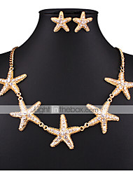 MISSING U Women Vintage / Party Gold Plated / Alloy / Rhinestone Necklace / Earrings Jewelry Sets
