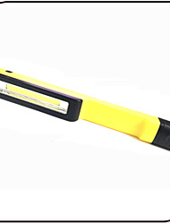 LED Flashlights/ COB Pen Light With Magnet/ 180 Degree Adjustable Clip/ AAA Battery/ Yellow ABS/Led Pocket Work Light