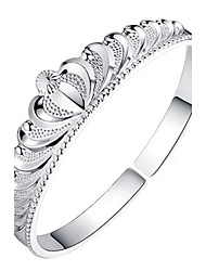 Women's Bracelet Sterling Silver Plated Sample Crown Shape Wedding for Bride