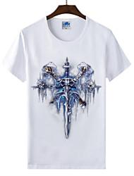 flaming monde light® of warcraft wow course fléau des morts-vivants cosplay lycra t-shirt en coton