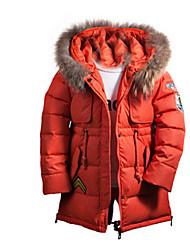 Девичий Куртка / пальтоПолиэстер,Зима,Черный / Оранжевый / Красный