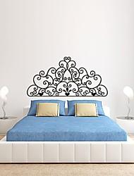 Романтика / Мода / Цветы Наклейки Простые наклейки,PVC S:27*55cm/ M:42*86cm/ L:55*112cm