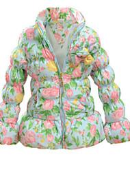 Girl's Multi-color Jacket & Coat,Floral / Ruffle Nylon Winter