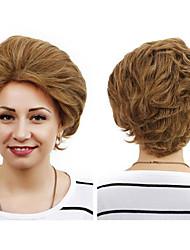 Short Length Wave Hair European Light Brown Hair Wig