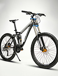 Mountain Bike Cycling 24 Speed 26 Inch/700CC 60mm Men's / Unisex Adult EF51-8 Double Disc Brake Suspension ForkFull Suspension /