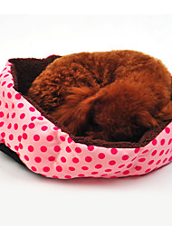Warm Spot Pattern Round Nest for Pet Dogs(Random Colour)