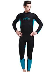 SBART Men's Diving Suit Ultraviolet Resistant Dive Skins 3 to 3.4 mm Black XL / XXL / XXXXL Swimming / Diving
