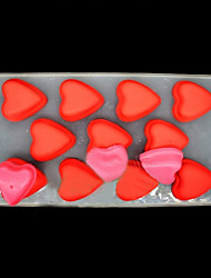 11-cavity Love Heart Silicone Ice Mold Tray Pudding Jelly Ice Cube Mould (Random Color)