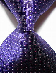New Royal Blue Crossed JACQUARD WOVEN Men's Tie Necktie TIE2025