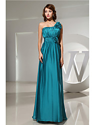 Floor-length Charmeuse Bridesmaid Dress A-line One Shoulder