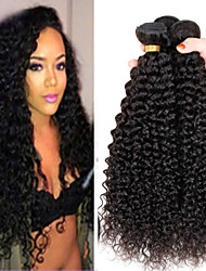 4Bundles 8-26inch Brazilian Virgin Hair Deep Curly Color 1B# Unprocessed Raw Virgin Human Hair Weaves