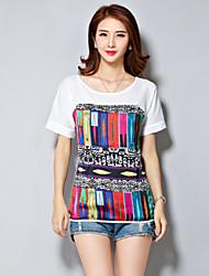 Women's Summer Hit Color Printing Loose Chiffon Blouse
