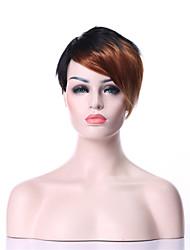 elegante mix-clolor reta curta (preto & louro) perucas de cabelo sintético