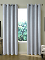 Chadmade CERIMONIA Collection Solid Polyester Linen Rayon Blend Woven - Lined Curtain Panel Drape