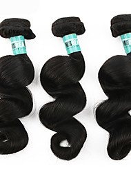 3Pcs/Lot 12-30inches Brazilian Virgin Hair Loose Wave Unprocessed Brazilian Human Hair Bundles