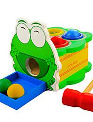 i bambini bussano puzzle di legno giocattolo toporagno battito