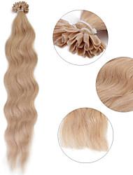 """neitsi 20 """"1 г / с кератином слияние у прибить наконечник естественная волна 100% человеческих волос расширения 18 #"""