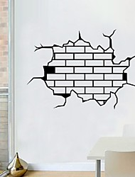Window Hole 3D Wall Sticker ,Creative Home Decal For House Living Room Roof Decals Stickers