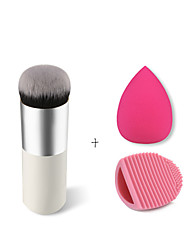 Oval Cosmetic Cream Powder Blush Makeup Tool, Glove MakeUp Washing Cleaning Brush Scrubber , Makeup Sponge Puff